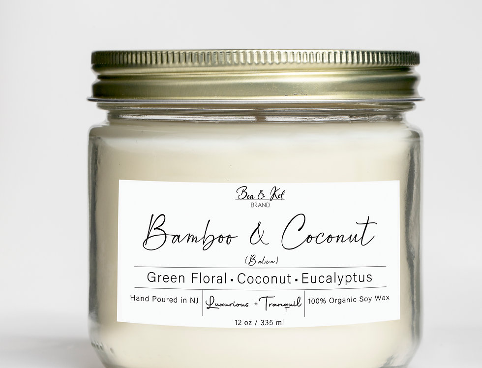 Bamboo & Coconut  Candle (Luxurious + Tranquil)
