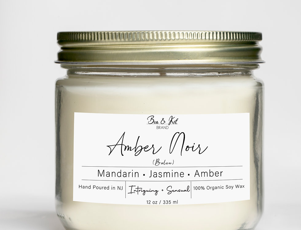 Amber Noir  Candle (Intriguing + Sensual)