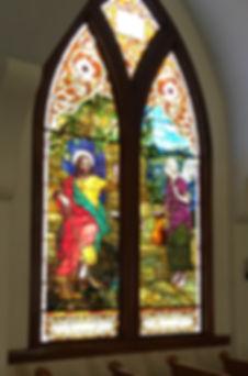 Union Church VH, Vinalhaven, Church, Window Restoration, stained glass window