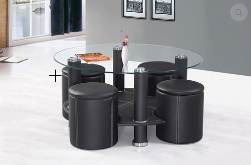 2057 - Coffee Table Set  Includes a Set of 4 Stools
