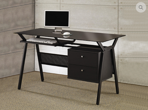 7020 - Desk Includes 2 Functional Drawers and Pull Out Keyboard Tray