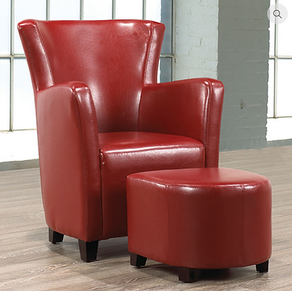 663 - Easy Chair and Ottoman