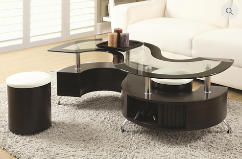 2050 - Coffee Table with 2 Stools and Storage
