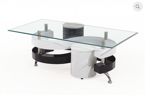 2055 - Coffee Table Set With 2 Stools