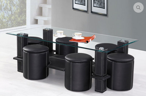 2056 - Coffee Table Set  Includes a Set of 6 Stools