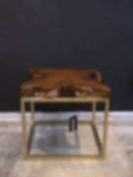 SQ TEAK OCCASIONAL TABLE GOLD LEG.jpg
