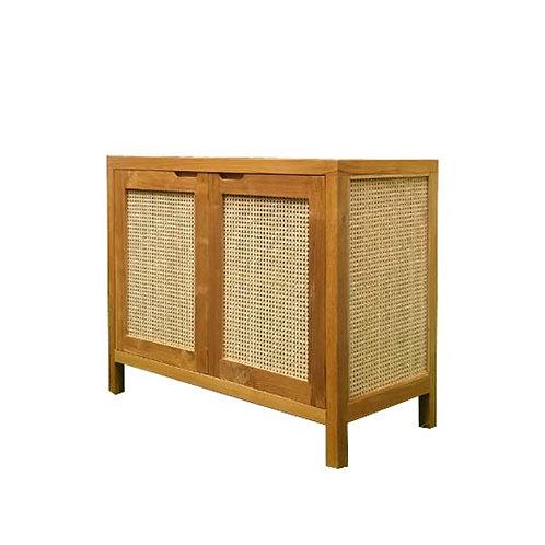 wooden rattan cabinet