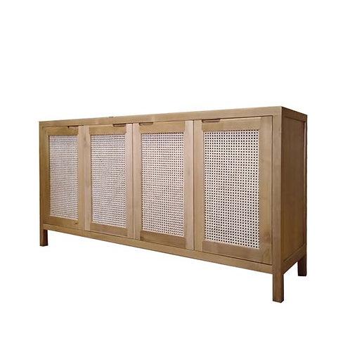 Rattan wooden sideboard