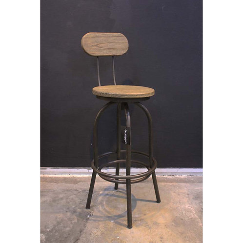 mindiwood bar chair with iron frame