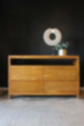 teak dresser 4 drawer
