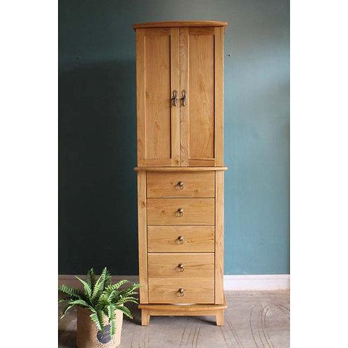 teak vanity cabinet