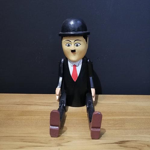 charlie chaplin wooden puppet
