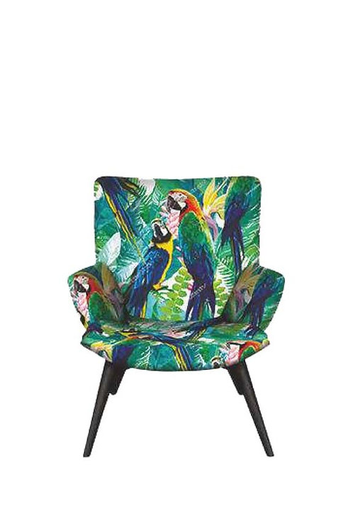 fabric designer armchair