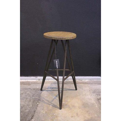 mindiwood high stool with iron frame