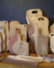 teakwood cutting board, kitchen ware