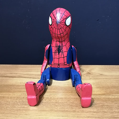 spiderman wooden puppet
