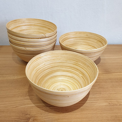 Bamboo bowl L