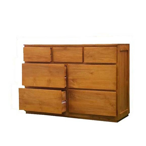 teak dresser 7 drawer