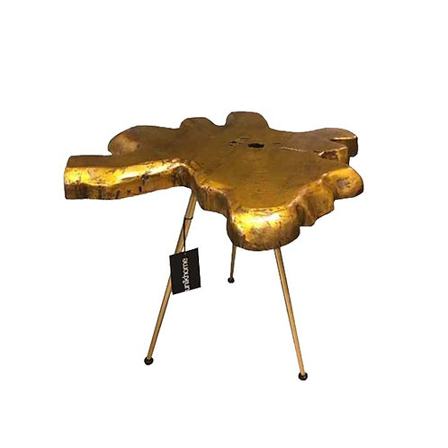 Teakroot side table (Gold)