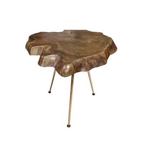 Teakroot side table (Walnut)