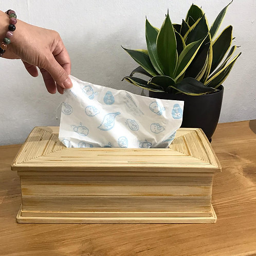 Bamboo Tissue Holder