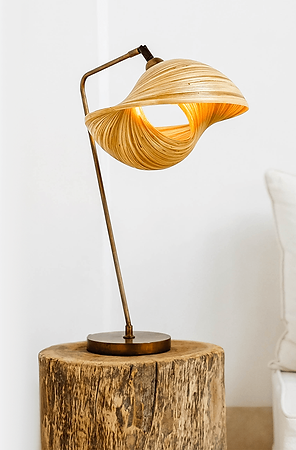 designer bamboo table lamp