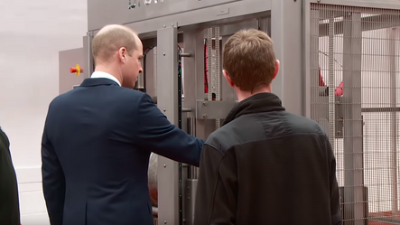 Prince William Tries Out the Brewology Cask Racker
