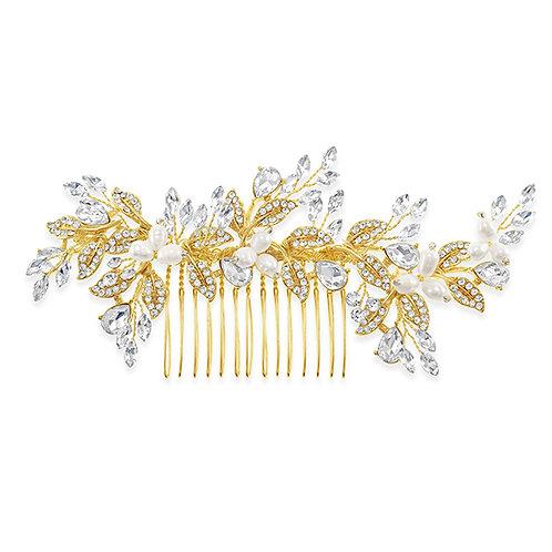 Bridal Gold Hair Comb 131406-10124044