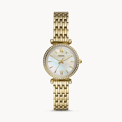 Fossil Carlie Mini Yellow Gold Tone