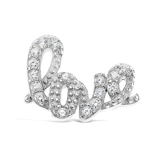 Circle of Love CZ Love Charm