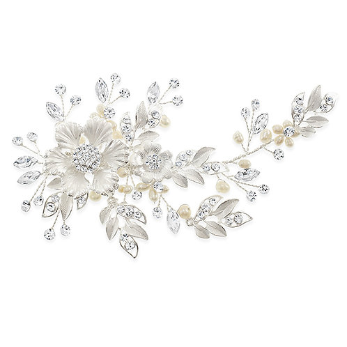 Bridal Silver Hair Clip 138497