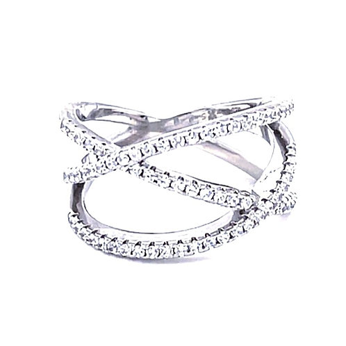 Sterling Silver Cubic Zirconia Ring 132707