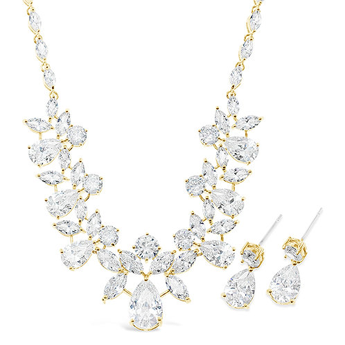Bitter Sweet Jewellery Bridal Gold Cubic Zirconia Necklace