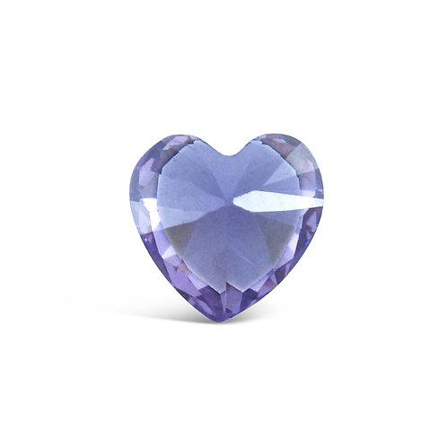 Circle of Love February Birthstones Heart Charm