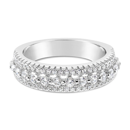 Sterling Silver Cubic Zirconia Ring 131907