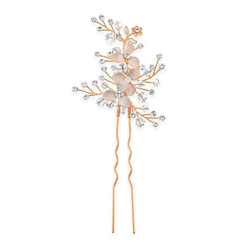 Bridal Rose Gold Flower Hair Stick 131398-10124037