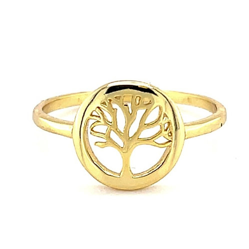 Gold Plated Sterling Silver Tree of Life Ring 131916