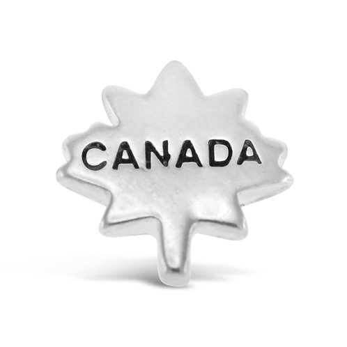 Circle of Love Canada Maple Leaf Charm