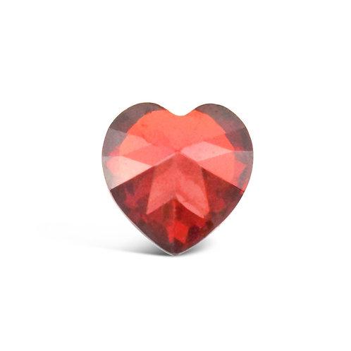 Circle of Love January Birthstones Heart Charm