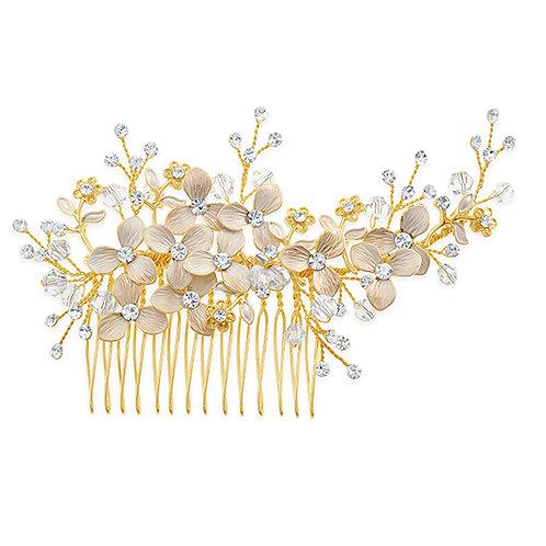 Bridal Gold Hair Comb 131399-10124038