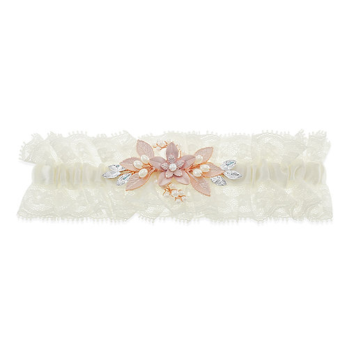 Garter Rose Gold Crystal and Pearl 10124868