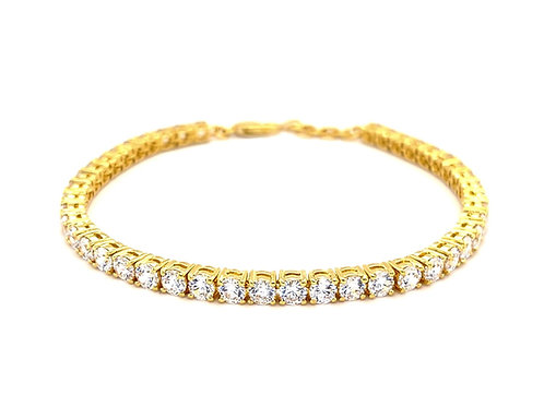 Gold Plated Sterling Silver Cubic Zirconia Bracelet 143352