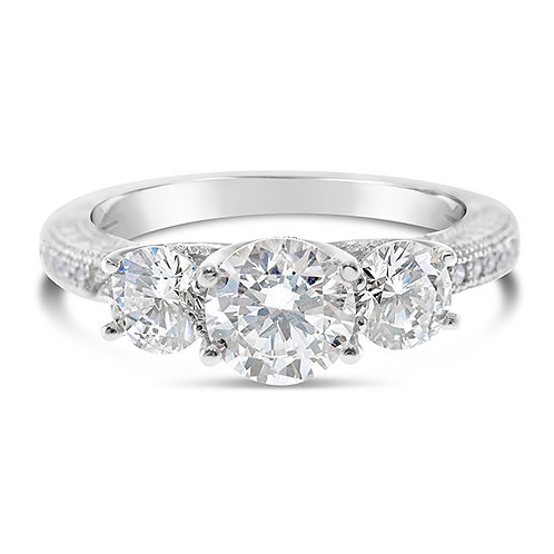 Sterling Silver Micro Pave Cubic Zirconia Ring 114920