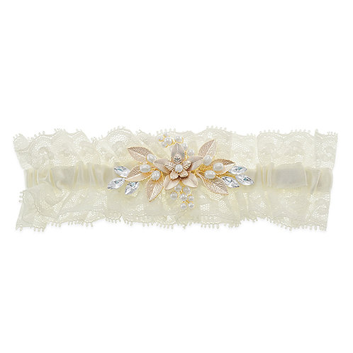 Garter Gold Crystal and Pearl 10124867