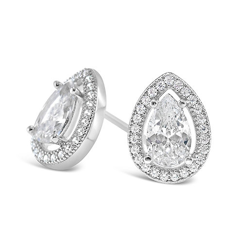 Bitter Sweet Sterling Silver Micro Pave Cubic Zirconia Earrings 114908