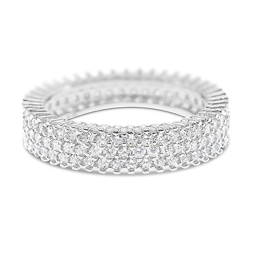 Sterling Silver Cubic Zirconia Ring 131905