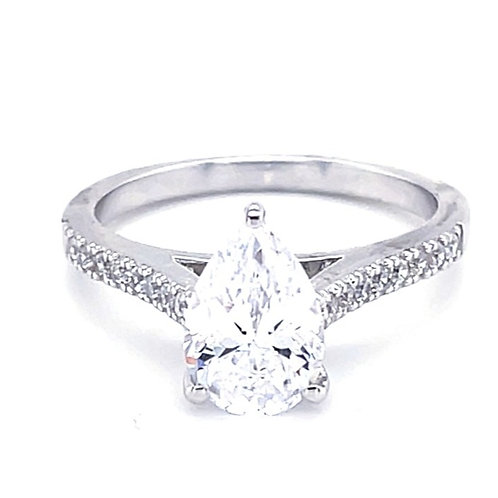 Sterling Silver Cubic Zirconia Ring 132422