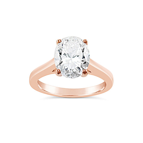 Rose Gold Plated Sterling Silver Ring 129408
