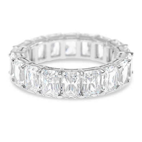 Bitter Sweet Sterling Silver Cubic Zirconia Eternity Ring 125616