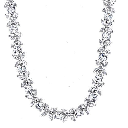 Fashion Cubic Zirconia Necklace & Earrings Set 154323
